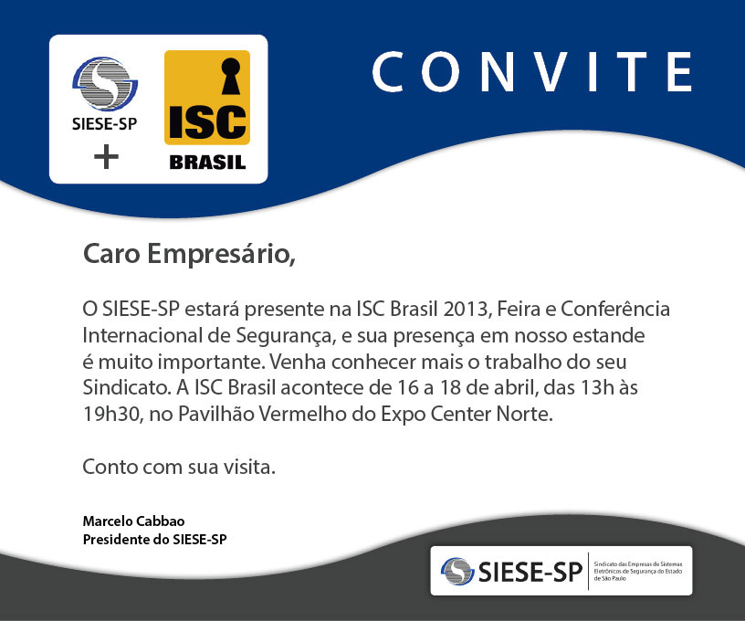 imagem de folder para SIESE-SP