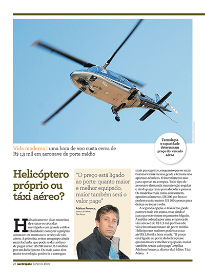 página interna revista metrópole - RAC
