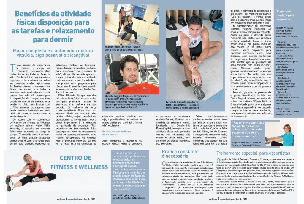 páginas internas da revista wellness - iwmello