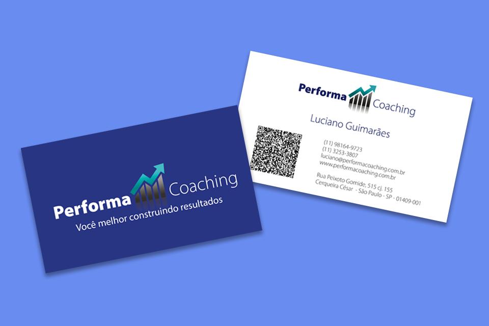 mockup cartão performa coaching